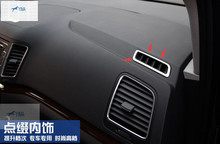 Accessories For VW Volkswagen Sharan 2012 2016 Stainless Steel Front Air Conditioning Vent Outlet Cover Interior