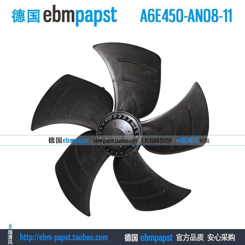 ebm papst A6E450-AN08-11 AC 230V 0.64A 145W 450x450mm Outer rotor fan new original ebm papst a2s130 ab03 11 ac 220v 240v 0 3a 50w 130x130mm outer rotor fan