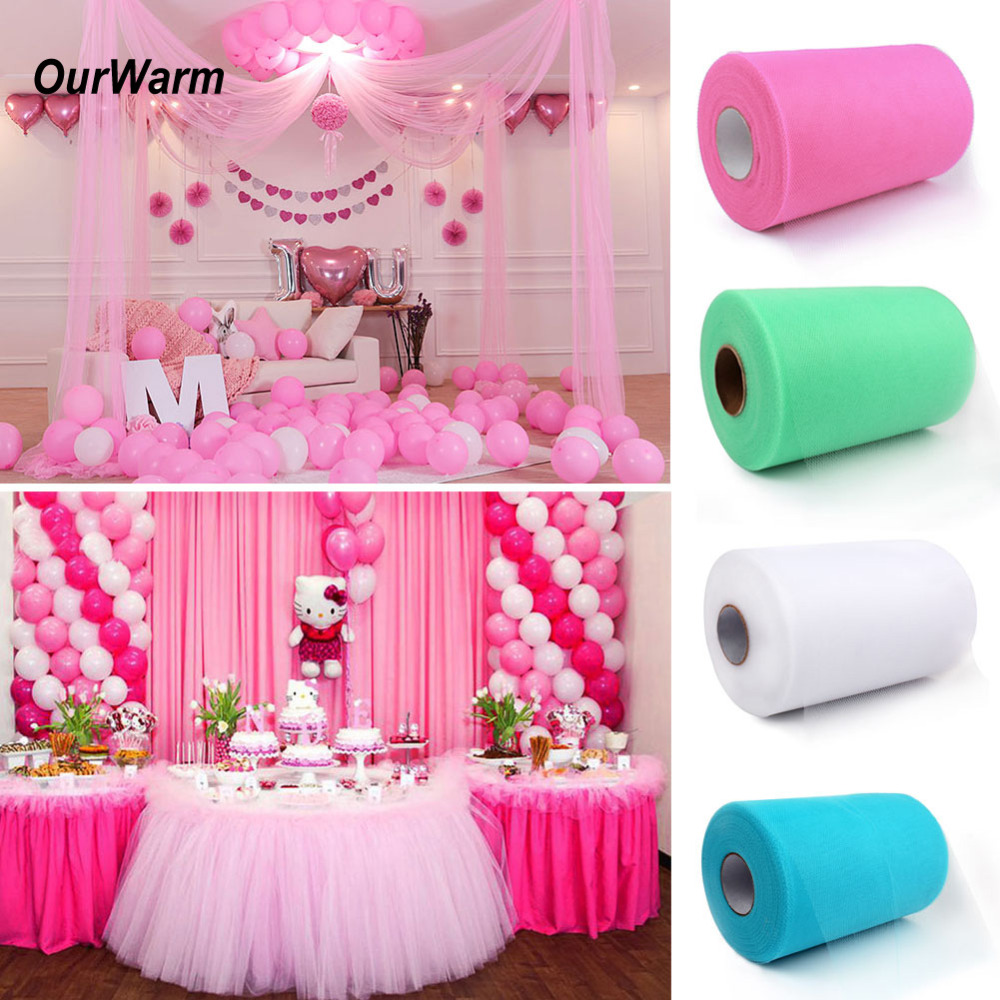 OurWarm Tulle Roll 100Yards Tutu Skirt Party Birthday Baby Show ...