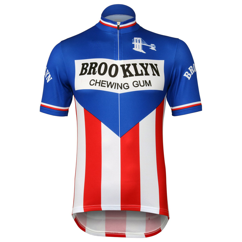 2019 Men's Retro-short-sleeve-jersey Team Cycling Jerseys Red/blue Cycling Clothing MTB/ROAD Bicycle Clothes Bike Wear Quick Dry