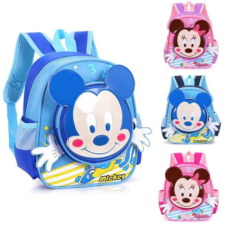 Cartoon kids baby bag Minnie Kindergarten Backpacks Children School Bags For Girls Boys Mickey SchoolBag Mochila cartable enfant