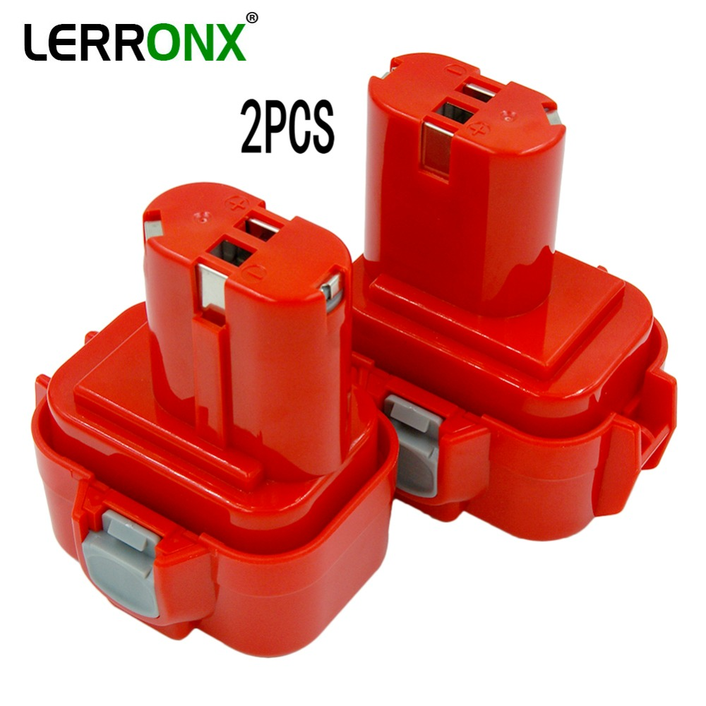 LERRONX 2PCS <font><b>9.6V</b></font> 2.0Ah Ni-CD Rechargeable <font><b>Battery</b></font> Replacement for <font><b>Makita</b></font> Cordless Power Tools 9100 9100A 9101 9133 9134 PA09 image