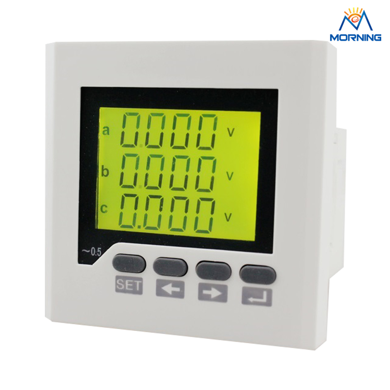 3D7Y size 80*80mm LCD display 3 phase multifunction meter  for distribution box d2y panel size 120 120 low price and high quality lcd single phase digital multifunction meter for distribution box