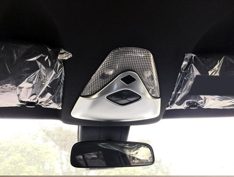 ABS Plastic Chrome matt Front & Rear Reading Light Lamp Cover Trims For Toyota C-HR C HR 2016 2017 car accessories