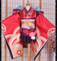 Косплей Бог музыка традиционное японское кимоно японский Cos костюм