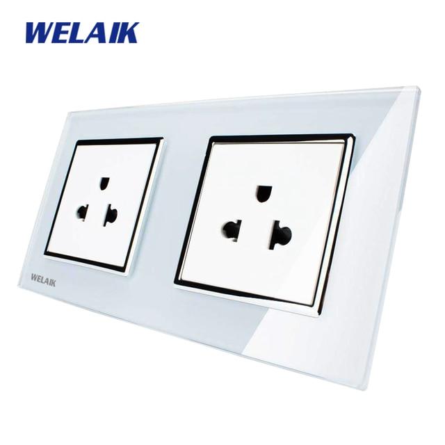 Aliexpress.com : Buy WELAIK Glass Panel Wall United States Socket ...