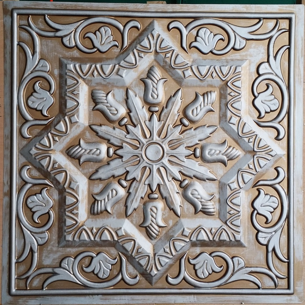 Pl21 faux antique tin copper metallized ceiling tiles interior pl21 faux antique tin copper metallized ceiling tiles interior wall paneling store cafe pub decorative wall panels 10tileslot in decorative films from home amipublicfo Gallery