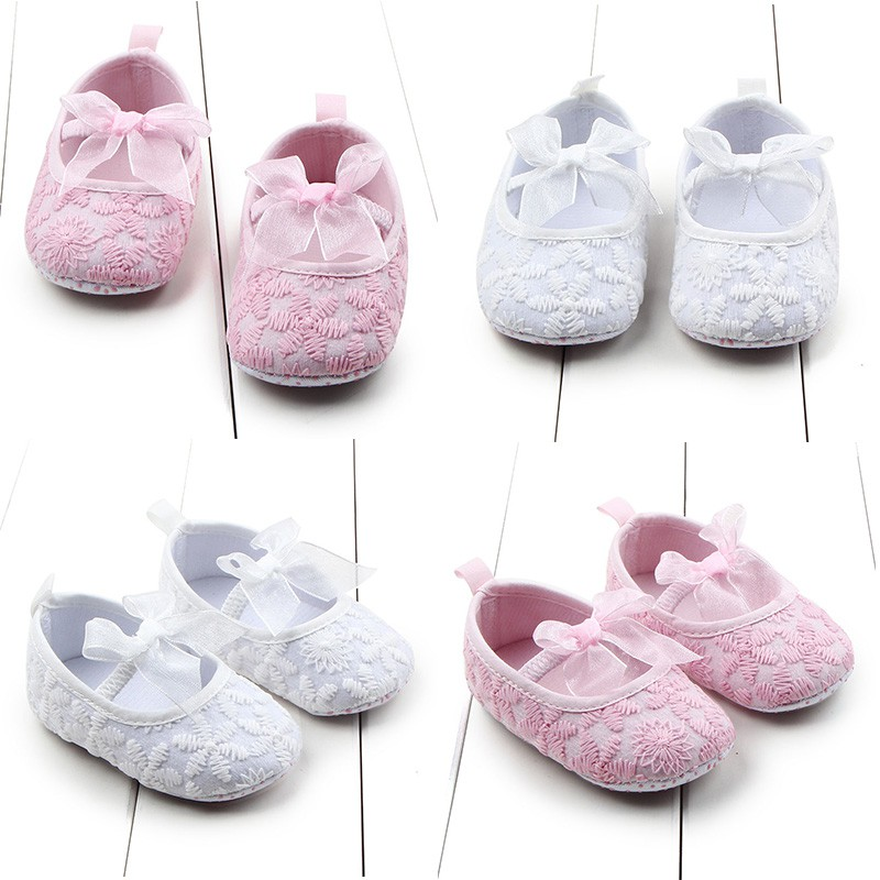 2017 Toddler Newborn Babys Infants Girls Shallow Soft Sole Crib Shoes Prewalkers 0-12M New