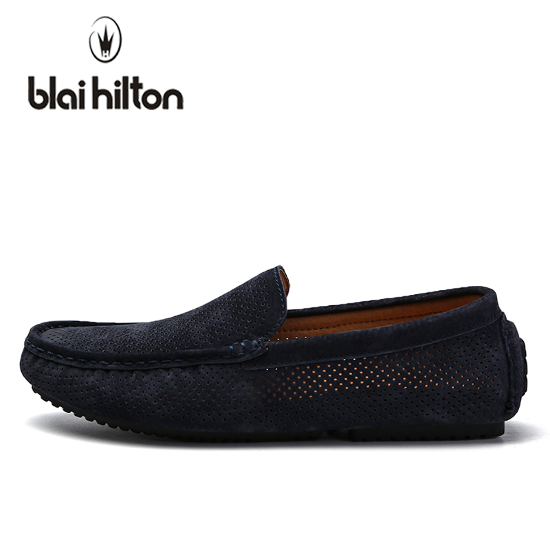 blaibilton Summer Hollow Out Breathable Moccasins Genuine Leather Luxury Loafers Men Casual Shoes Boat Fashion Slip On Driving blaibilton summer loafers men shoes 100