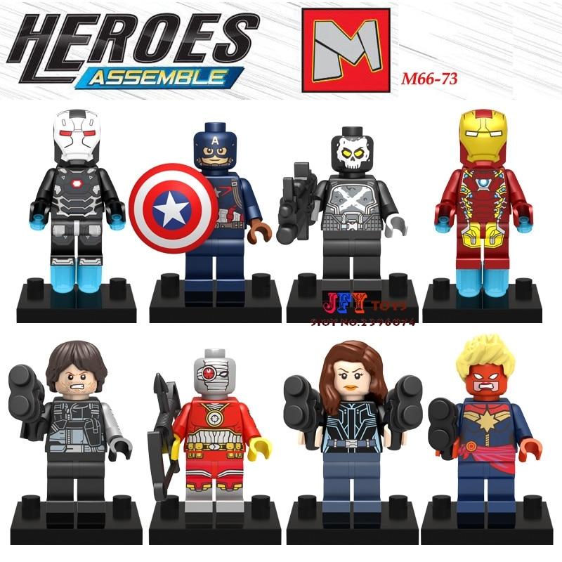 80pcs starwars superhero M66-73 movie building blocks bricks friends for girl boy house games kids children toys iluminador