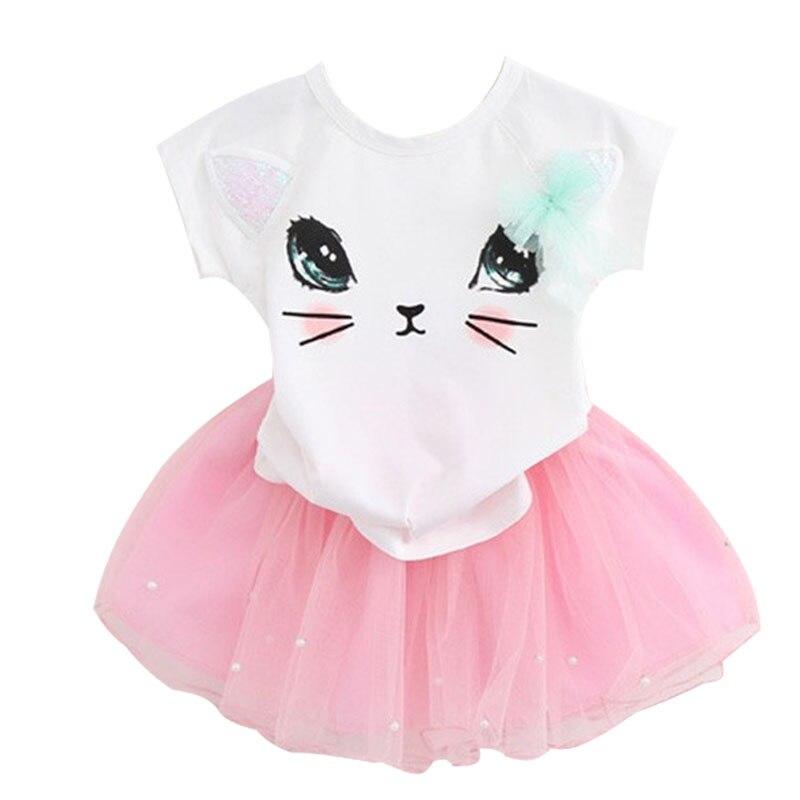 Novo 2019 Personalizado Verão Bebê Crianças Menina Princesa Partido Mini Vestido Vestidos Da Menina Das Crianças Crianças Vestido de Pano Crianças 2- 6 Vestidos de bebê