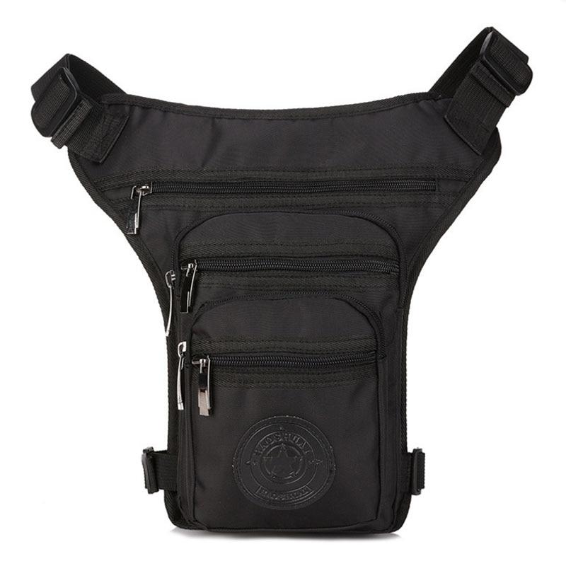 Men Canvas /Nylon Leg Bag For Men Fanny Pack Belt Hip Drop Messenger Shoulder Travel Trekking Motorcycle Assault Waist Bags
