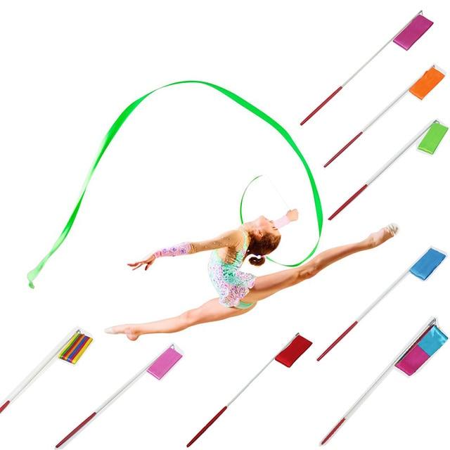 9 Farben Dance Band Gym Rhythmische Gymnastik Kunst Ballet Streamer ...