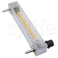 LZB 6 80 1000L/h Flowmeter Aire Oxygen Gas Flow Meter Plastic Tube Metal Outlet Input Plugs
