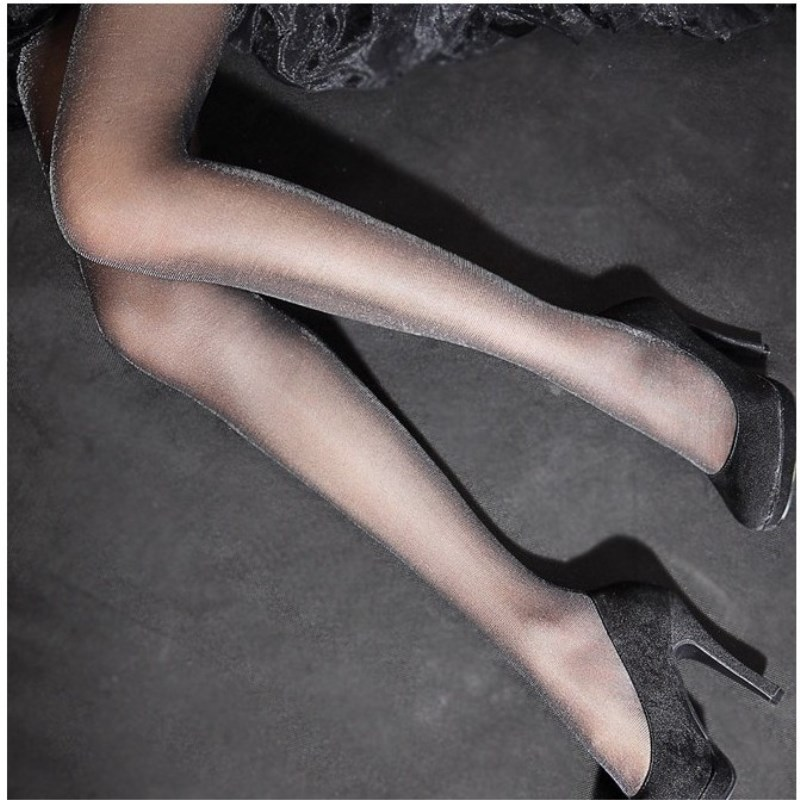 Jeseca New Fashion 20D Women Sexy Stockings Female Shining Thin Lingerie Stocking Silver High Hosiery Pantyhose Spring Summer