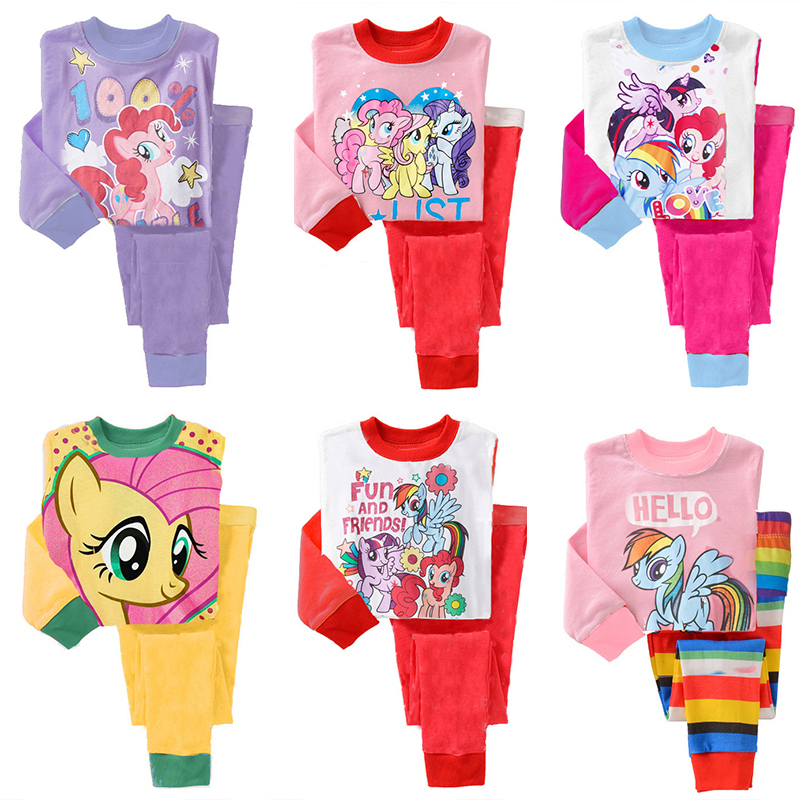 a014654292d6 2015 New Spring Autumn Kids My little Pony Clothes Baby Girl ...