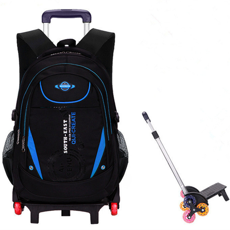 Removable Boys Trolley Backpack Schoolbag Children Orthopedic Backpack Girls School Backpack Kids Travel Bag Mochila Infantil children school bags orthopedic backpack schoolbags kids children travel backpack school backpack boys girls casual rucksack