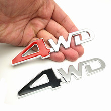 FDIK 3D Chrome Metal Sticker 4WD Emblem 4X4 Badge Decal Car Styling For Honda CRV Accord Civic Suzuki Grand Vitara Swift SX4 стоимость