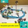 Lepin01008 1124Pcs Friends Series Amusement Park Roller Coaster Model Building Blocks Set Bricks Toys For Children