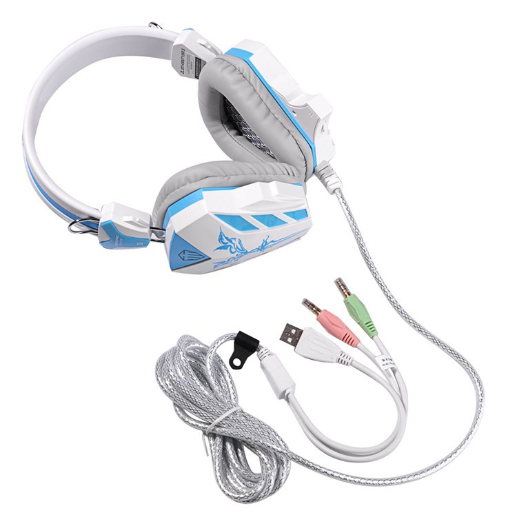 Cosonic CD-618 40mm Driver Unit Two-channel Stereo Gaming Headset Headphones with Volumn Control Mic LED Light for PC Computer (14)