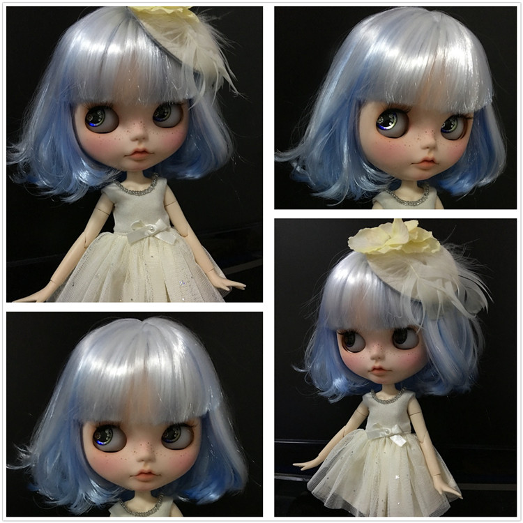 Blyth Doll Short Hair Mixted Color Matt Face 1 6 Normal Body 4 Colors For Eyes