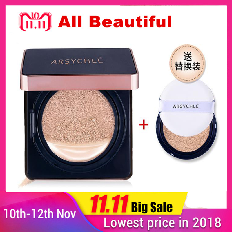 Air Cushion BB Cream Isolation Sunscreen Concealer Moisturizing Foundation Makeup Bare Air Cushion Lady Women BB Cream Skin Care цена