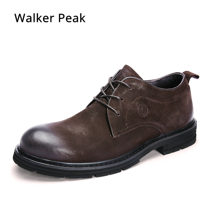 Men s Cow Genuine Leather Casual shoes Business Men Dress Shoes Autumn Winter Classic Waterproof Lace