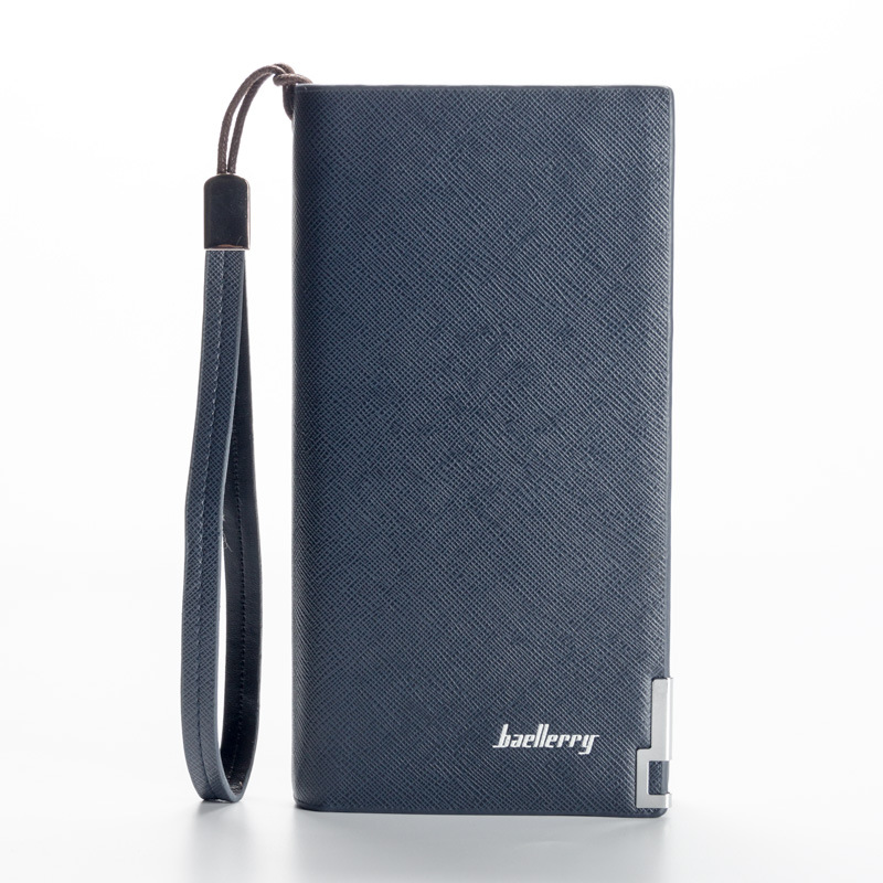 BAELLERRY New Men ultra-thin big-capacity long cards package multi-card bit wallet man bank credit card holder ultra thin colorfulcascading pull out card holder wallet