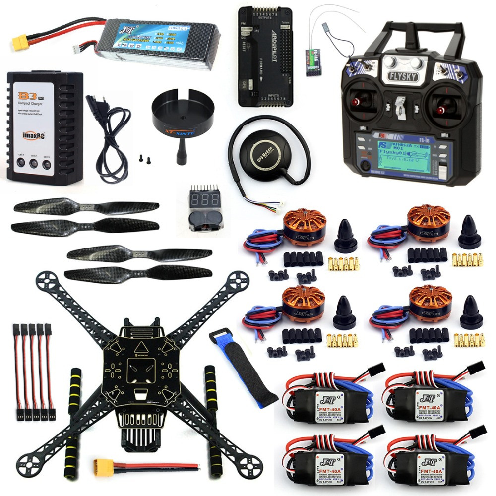 DIY 4 Axle RC FPV Drone S600 Frame Kit with APM 2.8 No Compass Flysky FS-i6 TX Battery Charger 700KV Motor 40A ESC XT60 F19457-J