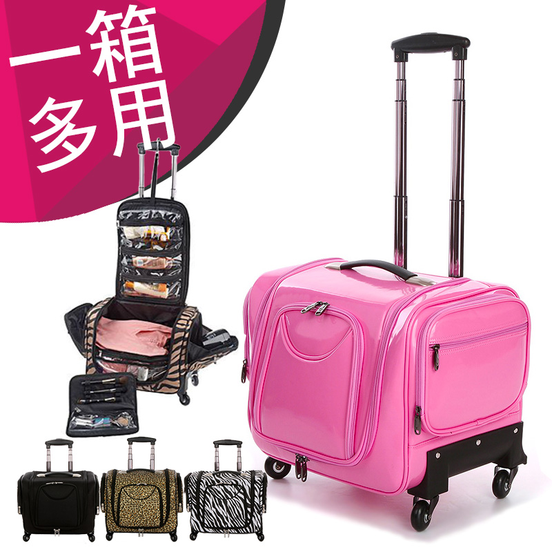 Pink Universal Wheels Trolley Luggage Professional Portable Cosmetic Travel Bag New Fashion Arrival Bags In Carry Ons From