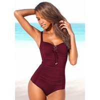 Vintage Swimwear Women Push Up One Piece Swimsuit Retro Monokini Classic Bodysuit Cover Belly Bath Suit