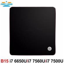 Окна 10 DDR4 NUC NGFF SSD 5 г AC Wi-Fi Bluetooth HTPC HDMI Mini DP Мини-ПК с охлаждающий вентилятор Intel Core i7 6650U 7560U i5 7200U