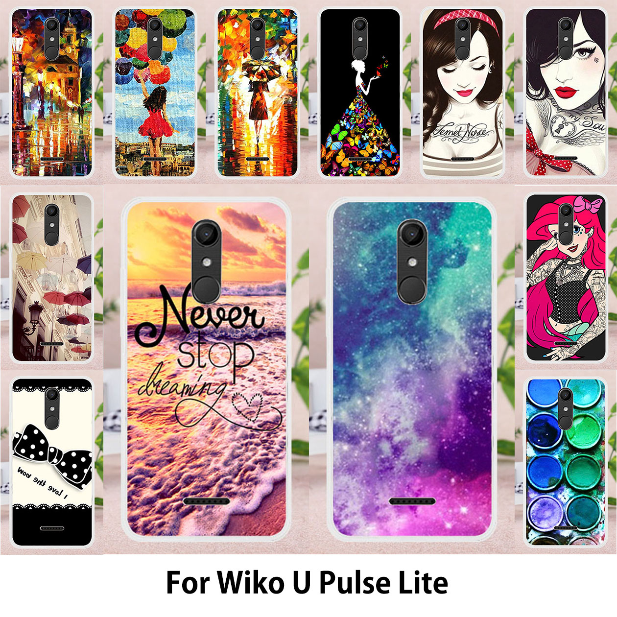 Fitted Cases Hearty Taoyunxi Soft Tpu Phone Cases For Wiko Upulse Lite U Pulse Lite 5.2 Inch Overs Umbrella Girls Ballon Bags Candies Phone Back We Have Won Praise From Customers Cellphones & Telecommunications