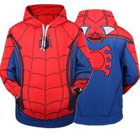 Spider Man Homecoming Spiderman Cosplay Costumes 3D Printing Hoodie Sweatshirts Coat