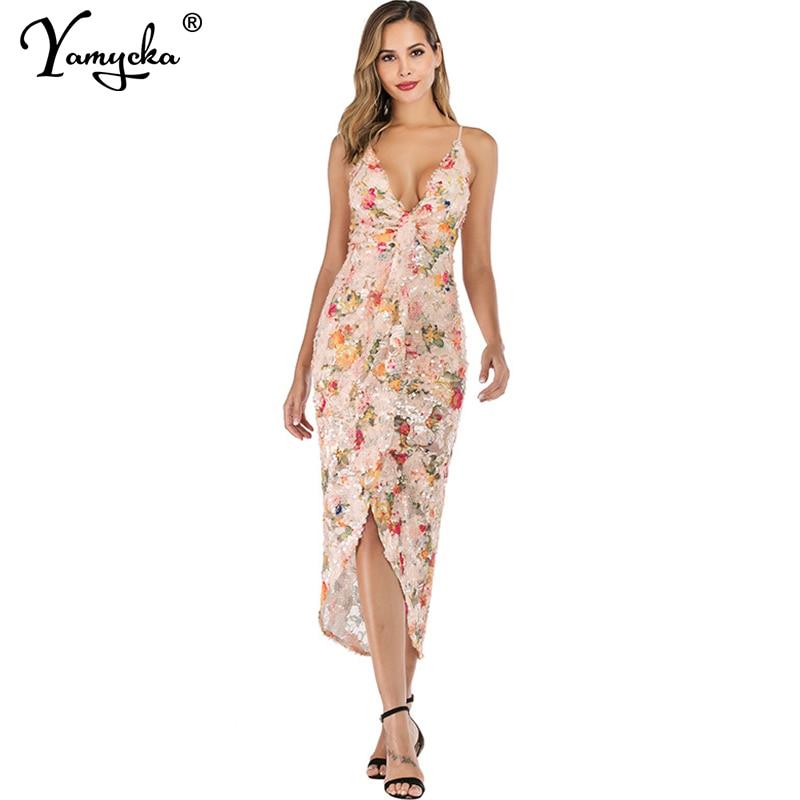 Sexy print Sequins summer maxi dress women Strap Backless Bandage party Long dress elegant bodycon vintage
