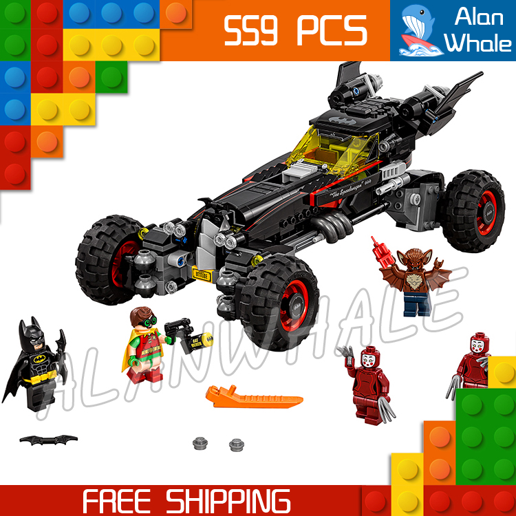 559pcs New Super Heroes Batman Movie 07045 The Batmobile DIY Model Building Kit Blocks Gifts Toys Bricks Compatible with Lego