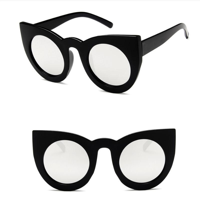 2017 New Tom Fashion Brand Designer Cat Eye Women Sunglasses Female Gradient Points Sun Glasses Big Oculos feminino de