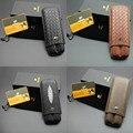 COHIBA держатель для сигар чехол гаджеты сетка P кожа портативный 2 ящика для Хранения Сигар Путешествия Портативный Открытый Humidor 175*70 мм 1207L