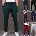 Cool Men Drawstring Sweatpants Long Harem Pants    Trouser