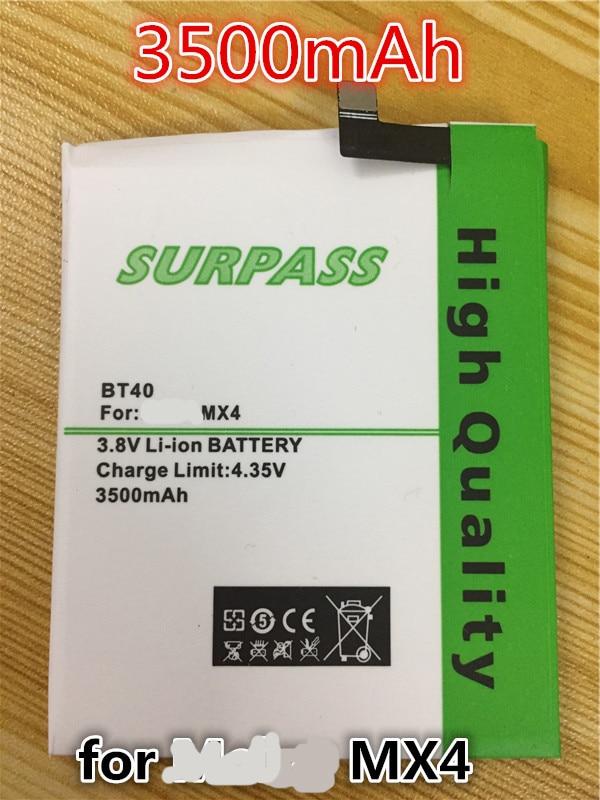 imágenes para 3500 mAh Batería de La Batería para Meizu MX4 MX 4 M460 BT40 M461 baterías