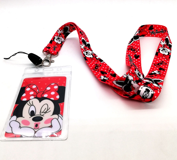 1 Pcs  Minnie  Neck Strap Lanyards Card Holders Bank Neck Strap Card Bus ID Holders  Rope Key Chain Gift K19