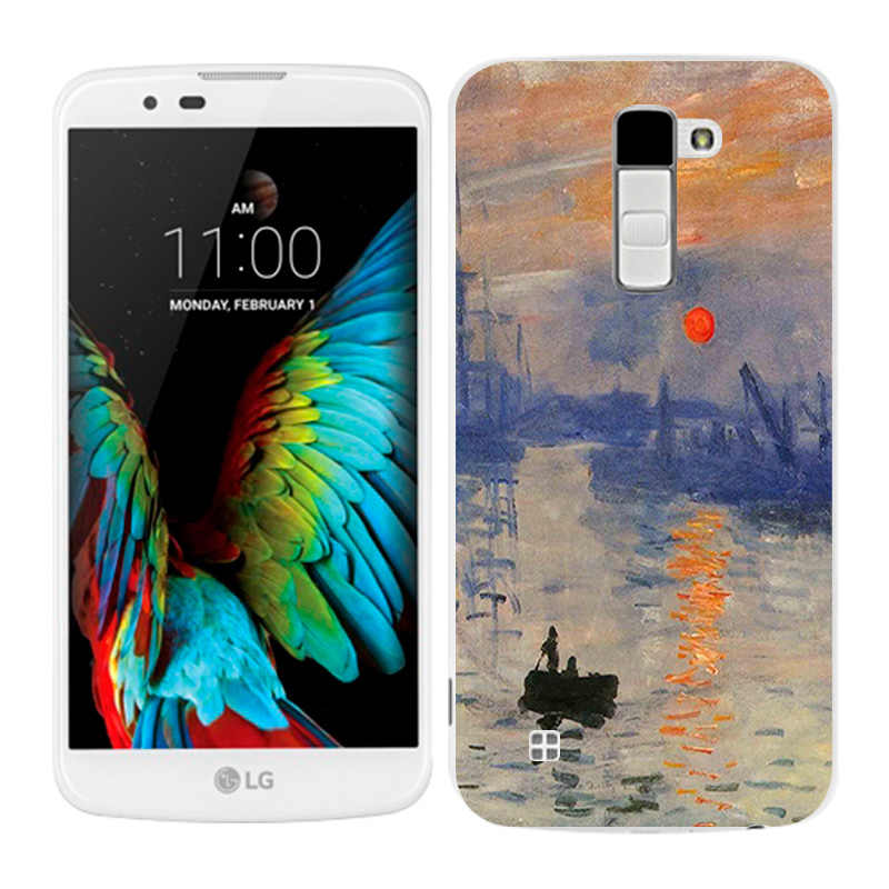 LG K10 מקרי שמן צבוע טלפון חזרה Fundas כיסוי סיליקון עבור K10 Lte K 10 M2 K410 K420N k430DS F670 Coque