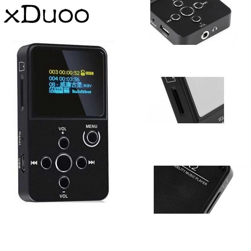 цена на xDuoo X2 HiFi MP3 Digital Audio Player with OLED Screen TF Card Slot Aluminum Alloy Housing