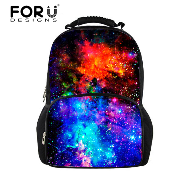 FORUDESIGNS Women Backpack for Teenager Girls&Boys Galaxy Space Star Printing Backpacks Men Fashion Bagpack College Laptop Bags forudesigns 3d animal printing backpacks for men crazy horse dinosaur school backpack for teenager boys man kids travel bagpack