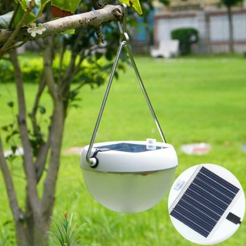 Waterproof IP55 0.48W 64-72Lm 8 LEDs Solar Powered Human Body Induction LED Garden Camping Lights Outdoor