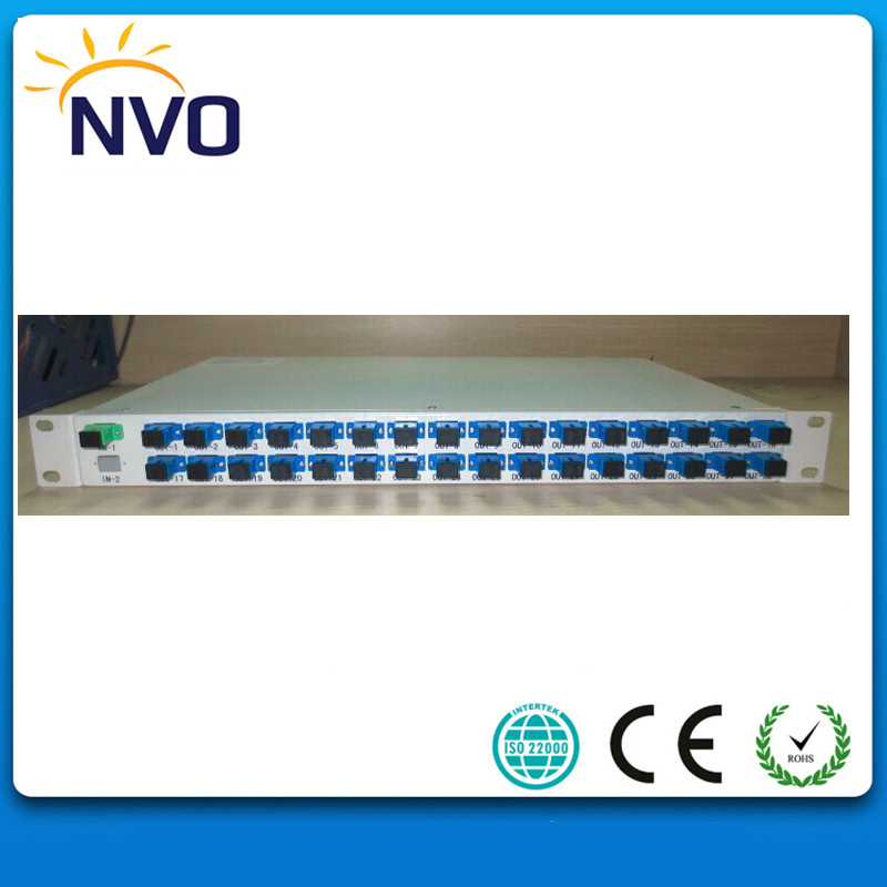 FTTH 19 Rack Mount Optical Fiber Splitter 1*32 PLC with SC/UPC Connector