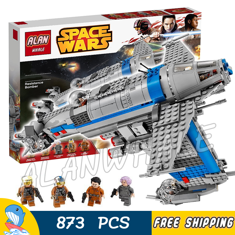 Galleria fotografica 873 pz Spazio Wars Resistenza Bomber Astronave Set 05129 Modello di Costruzione Assemblare Ragazzi Giochi Giocattoli Mattoni Compatibile Con <font><b>Lego</b></font>