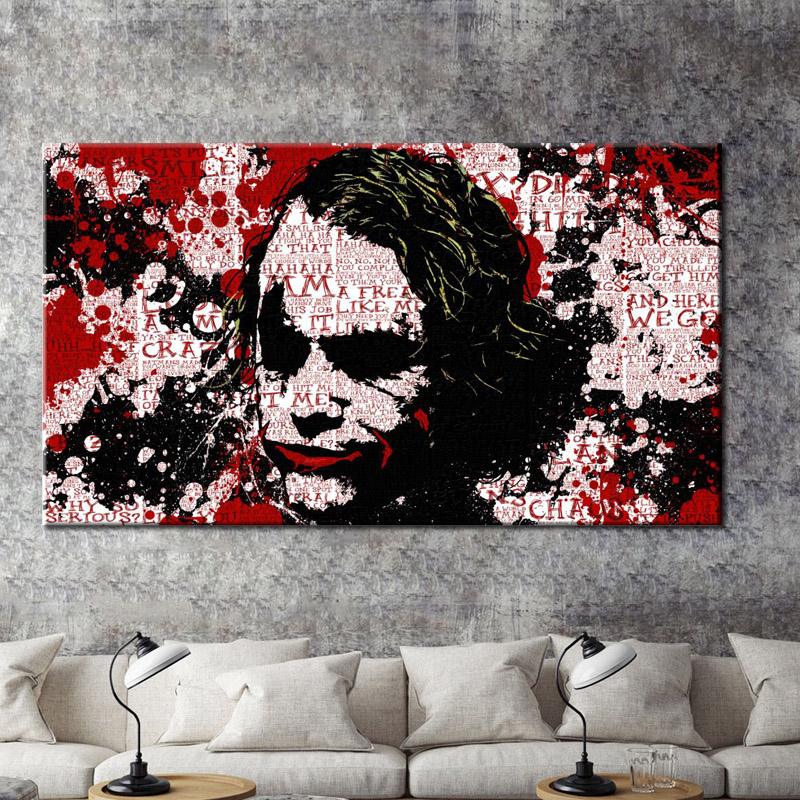 Us 2 94 15 Off Modern Wall Graffiti Art Oil Painting Joker Print Poster On Canvas Wall Art Picture For Living Room Cuadros Home Decoration Gift In