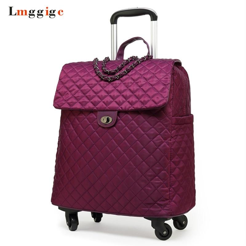 a6384ca83f27 Женская 20 дюймов чемодан, сумка для ручной клади, Дорожный Чехол с  прокатки, Универсальный