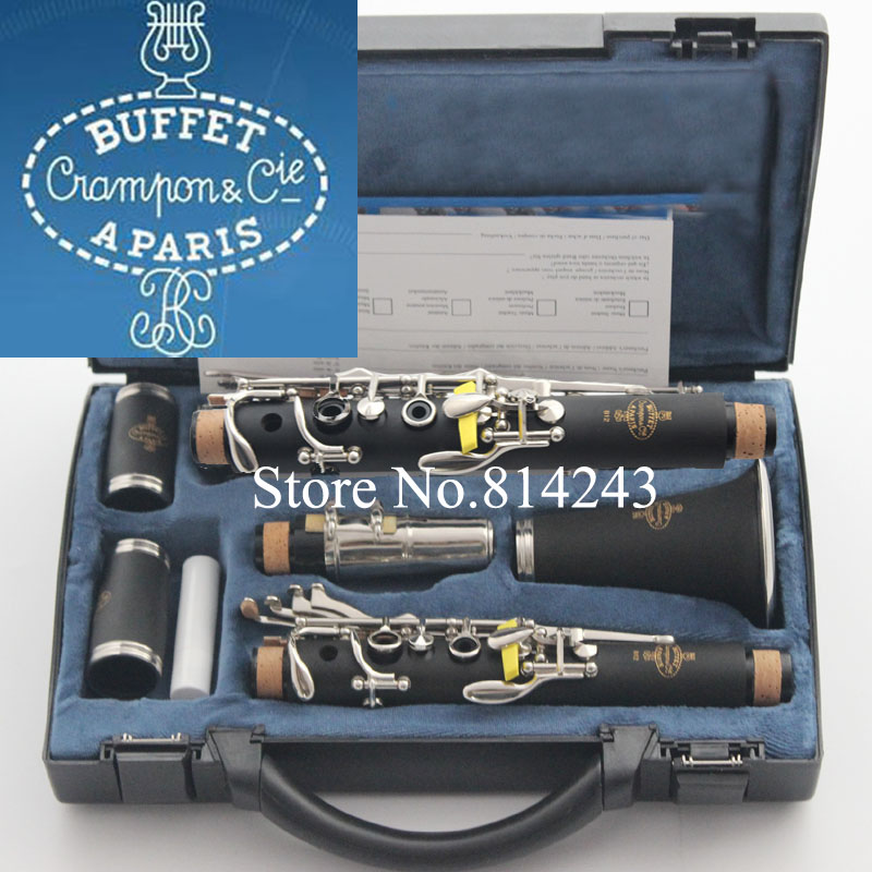 1986 B12 Buffet Clarinet Black Nickel Plated Student Beginner B Flat Clarinet Instruments With 16 Closed Holes+Reeds+Case